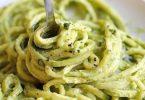 Spaghettis à la crème de courgettes
