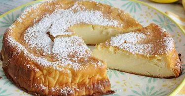 Gâteau au citron crémeux sans farine en moins d'1 heure