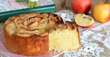 Gâteau aux pommes et au yaourt très doux