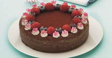 Gâteau fondant au Nutella aux fruits rouges