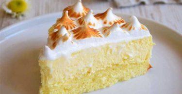 Gâteau nuage au citron meringué facile