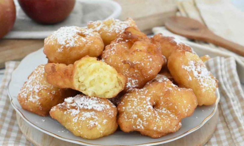 Beignets aux pommes très doux et SANS LEVURE