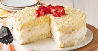 Dessert en Gâteau au Fromage et à L'ananas Sans Cuisson