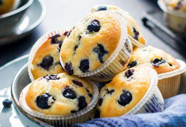 Muffins aux myrtilles recette facile