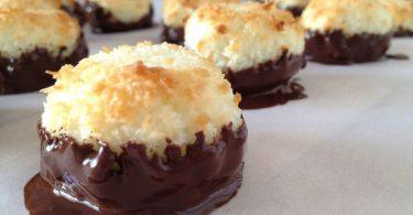Rochers à la noix de coco et chocolat facile à faire et à réussir