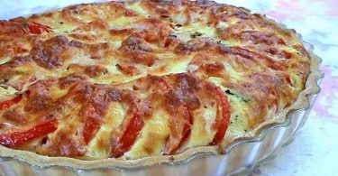 Tarte à la tomate et au basilic