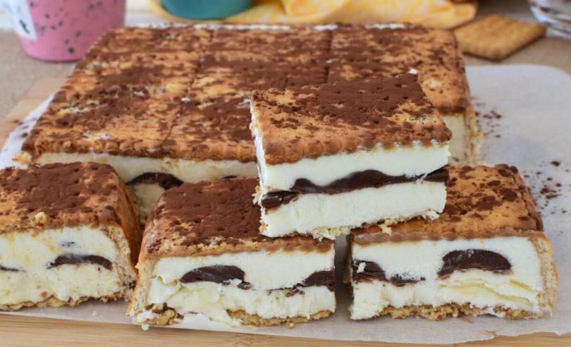 Tiramisu aux biscuits et Nutella facile fait maison sans sorbetière