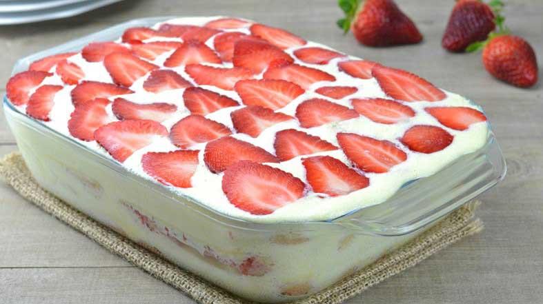 Tiramisu aux fraises mascarpone facile