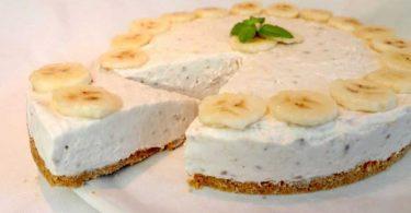 Cheesecake à la banane, Pas de cuisson délicieux en 10 minutes
