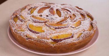 Gâteau aux pêches et mascarpone recette facile