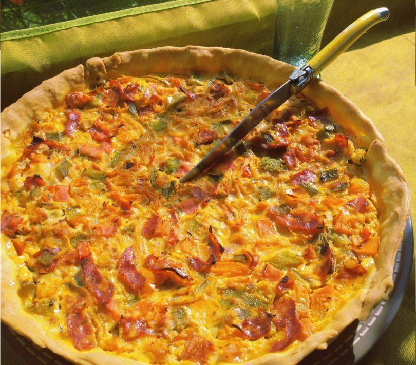 Tarte aux poivrons grillés et au chorizo