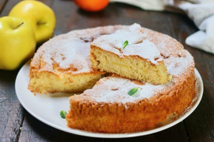 Tarte aux pommes et au citron sans levure