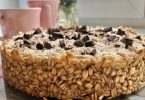 Gâteau aux flocons d'avoine et au chocolat sans cuisson