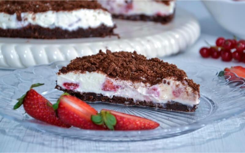 Gâteau aux fraises et au fromage sans cuisson