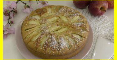Gateau aux pommes de grand mère simple et rapide prêt en 5 minutes