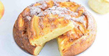 Gâteau aux pommes et au yaourt grec sans matière grasse
