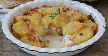 Gâteau de pommes de terre au Jambon et mozzarella