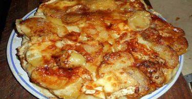 Gateau de pommes de terre au chaource et émmental