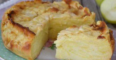 Gâteau invisible aux pommes facile et rapide