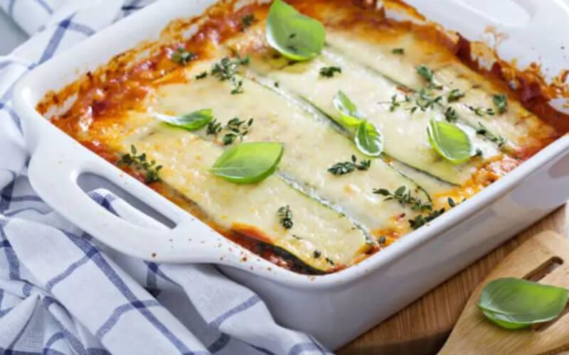 Lasagnes de courgettes au jambon cuit et fromage
